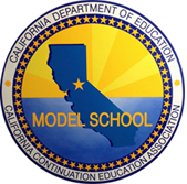 CA DOE Model School Logo